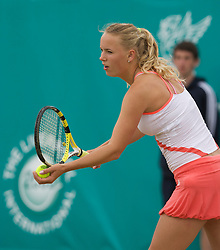 LIVERPOOL, ENGLAND - Friday, June 13, 2008: Caroline Wozniacki (DEN) on Day Four of the Tradition-ICAP Liverpool International Tennis Tournament at Calderstones Park. (Photo by David Rawcliffe/Propaganda)