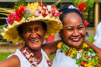 Bastille Day celebration, village of Vai'anae, island of Moorea, French Polynesia.