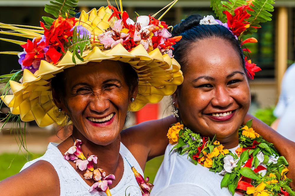 Bastille Day celebration, village of Vai'anae, island of Moorea, French Polynesia.