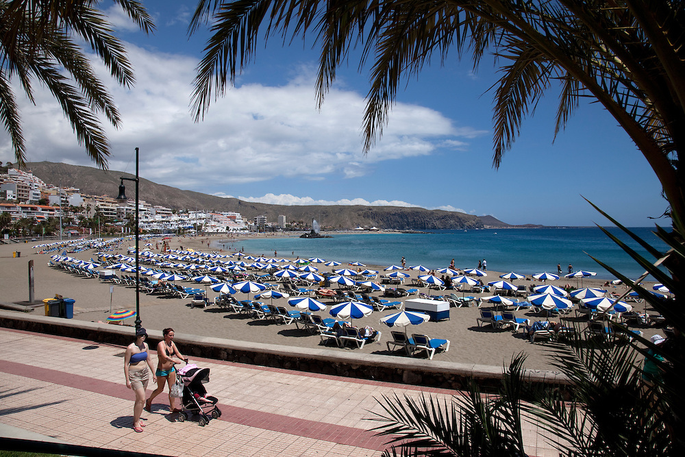 Playa Las Vistas, Los Cristianos, South Tenerife.
