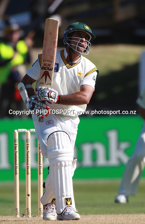 Pakistan batsman Taufeeq Umar on Day 2 of the 2nd test match.  New Zealand Black Caps v Pakistan, Test Match Cricket. Basin Reserve, Wellington, New Zealand. Sunday 16 January 2011. Photo: Andrew Cornaga/photosport.co.nz