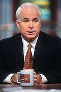 "WASHINGTON, DC - September 21: Senator John McCain on ""Meet The Press"" in Washington, DC. September 21, 1997  (Photo RIchard Ellis)"