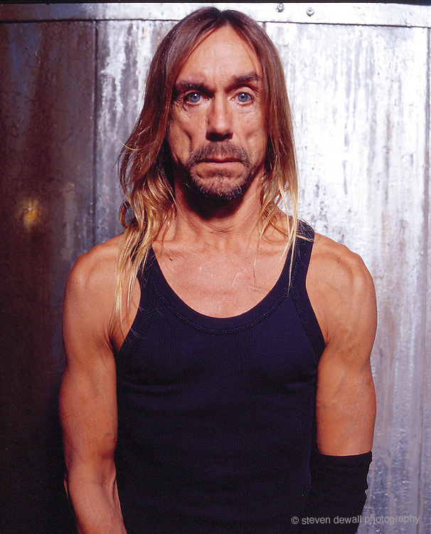 Iggy Pop photographed in Williamsburg, NY