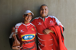 28-07-18 Emirates Airline Park, Johannesburg. Super Rugby semi-final Emirates Lions vs NSW Waratahs. Lions fans from Bosmont Janine and Michael Aitken. Picture: Karen Sandison/African News Agency (ANA)