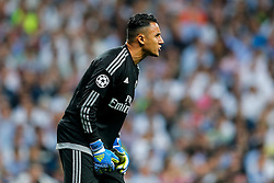 Keylor Navas of Real Madrid looks on - Mandatory byline: Rogan Thomson/JMP - 04/05/2016 - FOOTBALL - Santiago Bernabeu Stadium - Madrid, Spain - Real Madrid v Manchester City - UEFA Champions League Semi Finals: Second Leg.