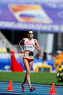 Paulina Buziak from Poland competes in women's 20 kilometres Race Walk final during the 14th IAAF World Athletics Championships at the Luzhniki stadium in Moscow on August 13, 2013.<br /> <br /> Russian Federation, Moscow, August 13, 2013<br /> <br /> Picture also available in RAW (NEF) or TIFF format on special request.<br /> <br /> For editorial use only. Any commercial or promotional use requires permission.<br /> <br /> Mandatory credit:<br /> Photo by © Adam Nurkiewicz / Mediasport
