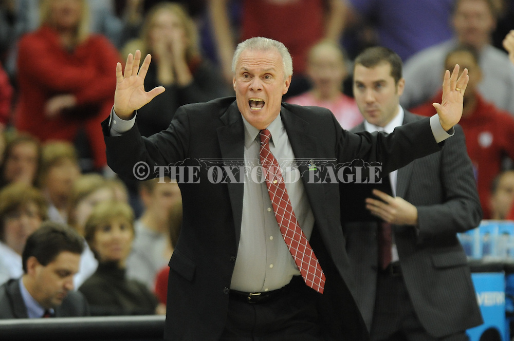 Ole Miss vs. Wisconsin's head coach Bo Ryan reacts in the NCAA Tournament at the Sprint Center in Kansas City, Mo. on Friday, March 22, 2013. Ole Miss won 57-46.
