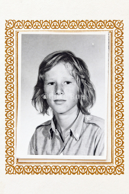 school memory portrait photo of young male person 1970s