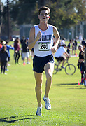 Carson Bix of El Camino places second in the men's race in 19:40.3 during the Southern California Community College cross country finals in Cerritos, Calif., Friday, Nov. 2, 2018. (Kirby Lee via AP)