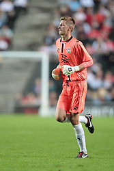 MK Dons's goalkeeper Charlie Burns (34) .Photo mandatory by-line: Nigel Pitts-Drake/JMP  - Tel: Mobile:07966 386802 31/07/2013 - MK Dons v  Tottenham XI  - SPORT - FOOTBALL - pre-season - Milton Keynes - Stadium MK