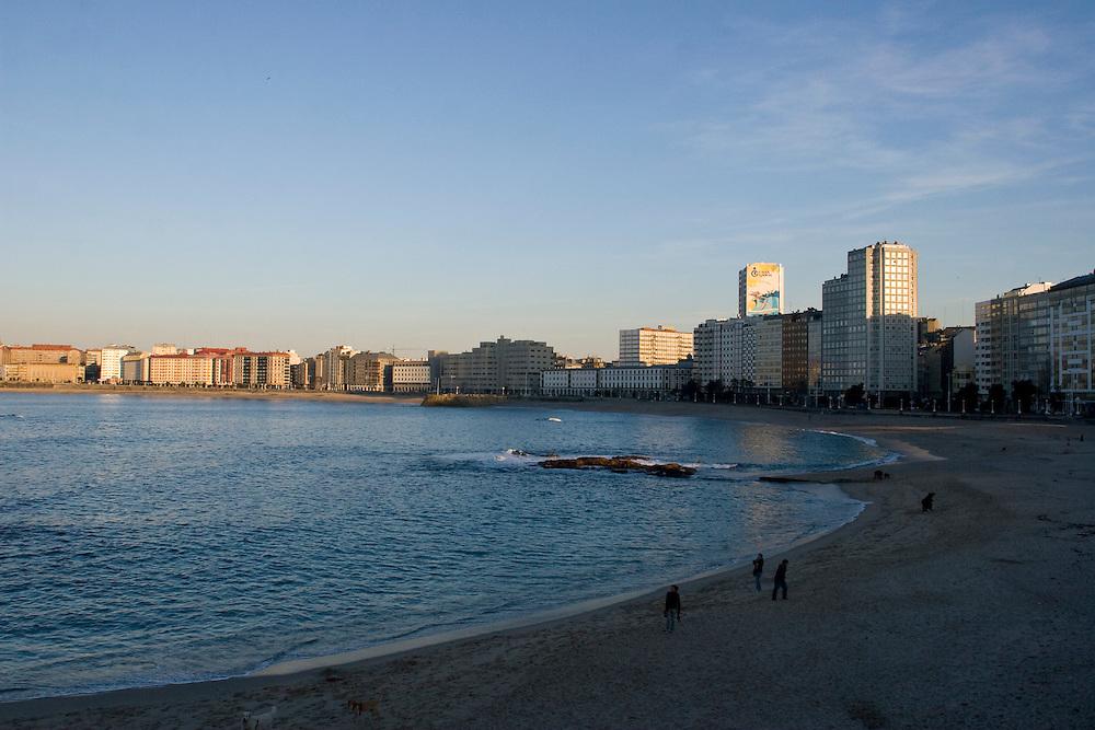 (A Coruña, Spain - January 30, 2010) - Photos of the Ayuntamiento of A Coruña in la Plaza Maria Pita on Saturday before meeting Patricio. ..Photo by Will Nunnally / Will Nunnally Photography