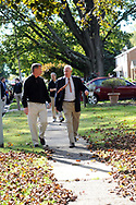 10/16/10 9:29:33 AM -- Springfield, PA<br />  -- Republican Congressional candidate Pat Meehan (R) and Tom McGarrigle (L) campaign on the street October 16, 2010 in Springfield, Pennsylvania. Meehan faces incumbent Democrat Bryan Lentz in the Nov. 2 general election. --  Photo by William Thomas Cain/Cain Images