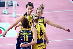 09-12-2017 ITA: Igor Gorgonzola Novara - Imoco Volley Conegliano, Novara<br /> Robin de Kruijf #5 of Imoco Volley Conegliano<br /> <br /> *** Netherlands use only ***