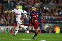 Neymar of FC Barcelona during the UEFA Champions League Group E football match between FC Barcelona and Bayer Leverkusen on September 29, 2015 at Camp Nou stadium in Barcelona, Spain.<br /> Photo: Manuel Blondeau/AOP Press/DPPI