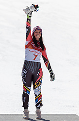 17.02.2018, Jeongseon Alpine Centre, Jeongseon, KOR, PyeongChang 2018, Ski Alpin, Damen, Super G, Siegerpräsentation, im Bild Tina Weirather (LIE, 3. Platz) // bronce medalist Tina Weirather of Liechtenstein during the winner presentation for the ladie's SuperG of the Pyeongchang 2018 Winter Olympic Games at the Jeongseon Alpine Centre in Jeongseon, South Korea on 2018/02/17. EXPA Pictures © 2018, PhotoCredit: EXPA/ Johann Groder