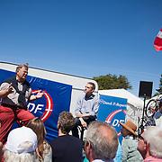 Folkemøde på Bornholm 2014. Kristian Thulesen Dahl fra DF og Claus Hjort Frederiksen fra Venstre.