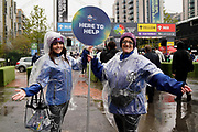 Wembley staff are out to help direct the fans during the International Series match between Oakland Raiders and Seattle Seahawks at Wembley Stadium, London, England on 14 October 2018.