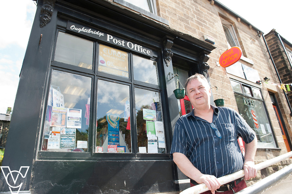Pictured is Postmaster Dave Lant<br /> <br /> Oughtibridge Post Office, Sheffield.<br /> Date: July 14, 2015