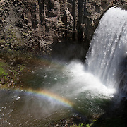 Upper Rainbow Falls in the Ansel Adams Wilderness area near Mammoth Lakes, CA.