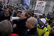 Simon Hughes MP tells assembled protesters that he will continue to put pressure on NO 10 to intervene in the Sri Lankan conflict