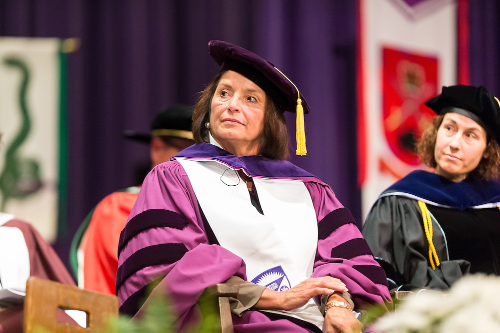 Rebecca Jamieson receives an Honorary Doctor of Laws during Western's Convocation at Alumni Hall in London, Ontario, Friday,  October 23, 2015.<br /> Western University/ Geoff Robins