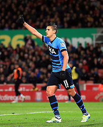 Erik Lamela of Tottenham Hotspur  gives a thumbs up - Mandatory by-line: Matt McNulty/JMP - 18/04/2016 - FOOTBALL - Britannia Stadium - Stoke, England - Stoke City v Tottenham Hotspur - Barclays Premier League