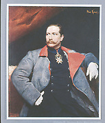 Wilhelm II (1859-1941) Emperor of Germany from 1888-1919.  After the portrait by Koner, National Gallery, Berlin.