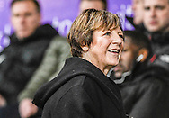 Delia Smith at the Norwich City U23 and Dinamo Zagreb U23 during the Premier League International Cup Quarter-Final match at Carrow Road, Norwich<br /> Picture by Matthew Usher/Focus Images Ltd +44 7902 242054<br /> 27/02/2017