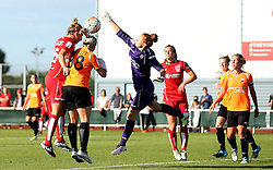 Grace McCatty defender for Bristol City Women heads the ball at goal but it goes just wide - Mandatory by-line: Robbie Stephenson/JMP - 23/07/2016 - FOOTBALL - Stoke Gifford Stadium - Bristol, England - Bristol City Women v London Bees - FA Women's Super League 2