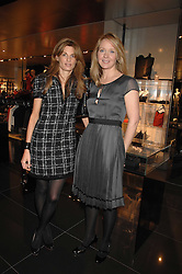Left to right, JEMIMA KHAN and KATE REARDON at a lunch to celebrate the launch of the Top Tips for Girls website (toptips.com) founded by Kate Reardon held at Armani, Brompton Road, London on 5th March 2007.<br />