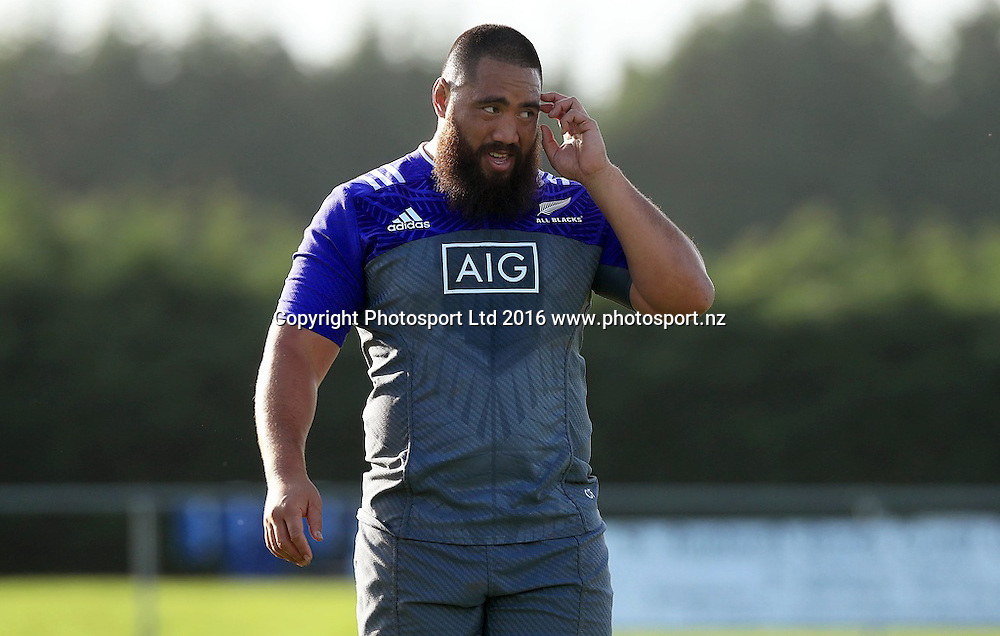 New Zealand All Blacks Squad Training, Westmanstown, Dublin 15/11/2016<br /> Charlie Faumuina<br /> Photo: &copy;INPHO/Donall Farmer / www.photosport.nz