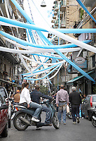 A celebration in streets of Naples, Italy