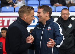 Middlesbrough manager Gary Monk (L) and Bolton Wanderers manager Phil Parkinson - Mandatory by-line: Jack Phillips/JMP - 09/09/2017 - FOOTBALL - Macron Stadium - Bolton, England - Bolton Wanderers v Middlesbrough - English Football League Championship