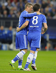 Chelsea's Fernando Torres celebrates his goal with Chelsea's Frank Lampard - Photo mandatory by-line: Joe Meredith/JMP - Tel: Mobile: 07966 386802 22/10/2013 - SPORT - FOOTBALL - Veltins-Arena - Gelsenkirchen - FC Schalke 04 v Chelsea - CHAMPIONS LEAGUE - GROUP E