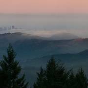 San Francisco from the Summit of Mount Tamalpais. Marin County, CA.