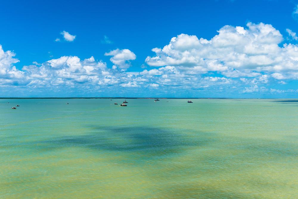 Panoramic photo of Roebuck Bay in Australia