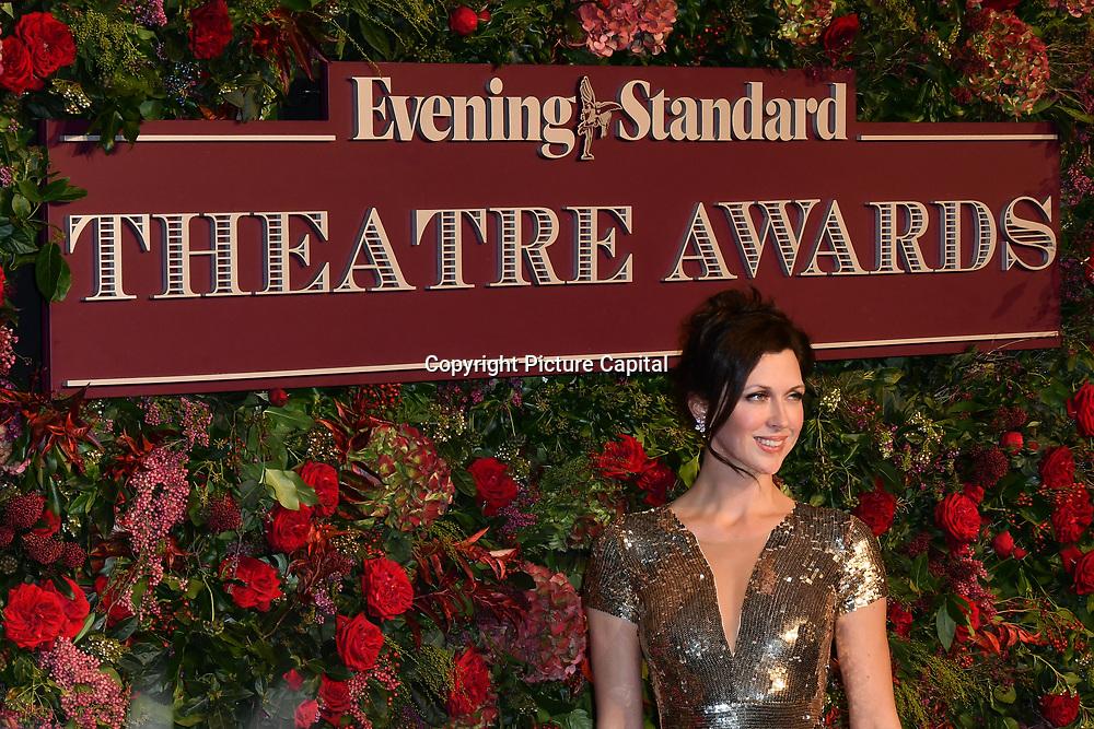 Margo Stilley attends Evening Standard Theatre Awards at Theatre Royal, on 18 November 2018, London, UK.