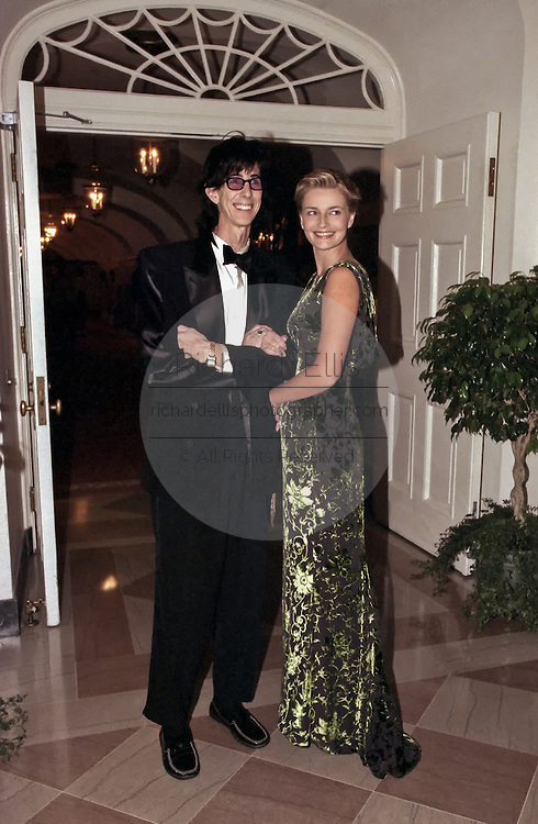 Musician Ric Ocasek with supermodel wife Paulina Porizkova arrive for a State Dinner welcoming Havel to the White House September 16, 1998 in Washington, DC.