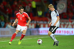 Gareth Bale of Wales is closed down by Martin Hinteregger of Austria - Mandatory by-line: Dougie Allward/JMP - 02/09/2017 - FOOTBALL - Cardiff City Stadium - Cardiff, Wales - Wales v Austria - FIFA World Cup Qualifier 2018