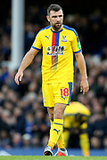 Crystal Palace midfielder James McArthur (18) during the Premier League match between Everton and Crystal Palace at Goodison Park, Liverpool, England on 21 October 2018.