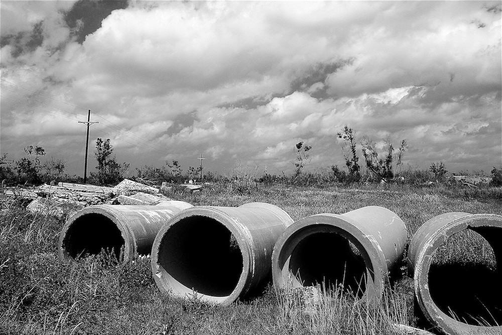 Sewer Pipes and Landscape, Hopedale, LA