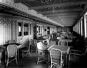 First class outer veranda on the Titanic ship which sank in 1912