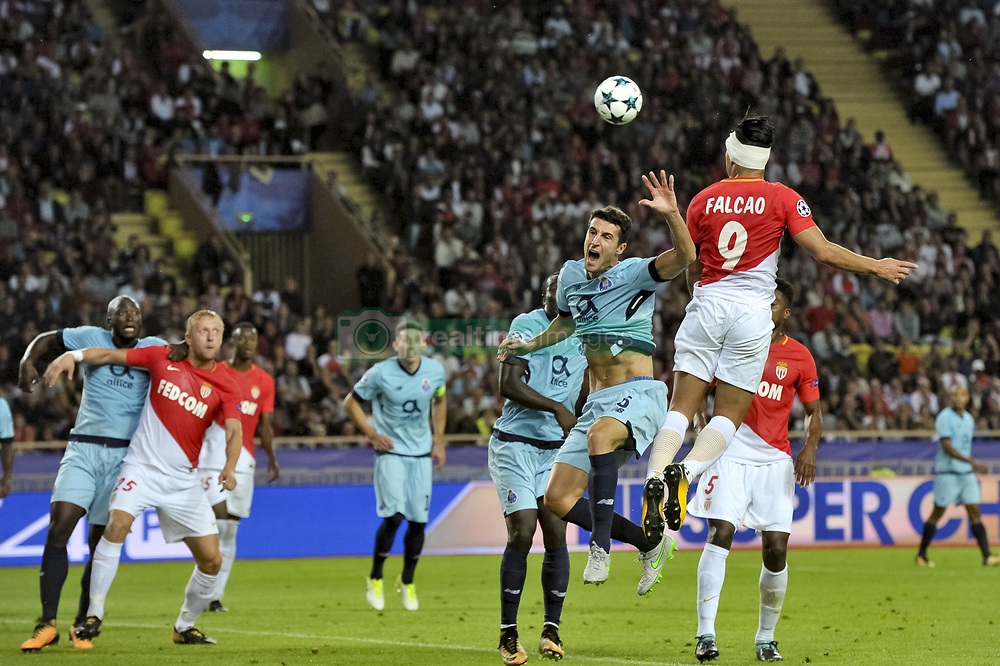 September 26, 2017 - Monaco, France - Radamel Falcao (AS Monaco) - Ivan Marcano  (Credit Image: © Panoramic via ZUMA Press)