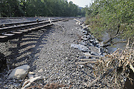 Distraction of Conrail by Hurricane Irene, Sloatsburg NY, USA