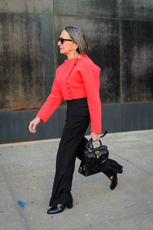 Geranium Red Jacket, Outside the Planned Parenthood Spring Gala 2018