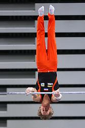 05-04-2015 SLO: World Challenge Cup Gymnastics, Ljubljana<br /> Epke Zonderland of Netherland in Horizontal Bar during Final of Artistic Gymnastics World Challenge Cup Ljubljana, on April 5, 2015 in Arena Stozice, Ljubljana, Slovenia.<br /> Photo by Morgan Kristan / RHF Agency