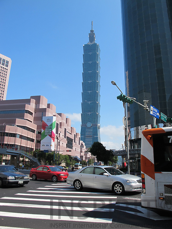 The Taipei 101 tower in Taipei, Taiwan, was the world's tallest building from 2004 until 2010, when it was beat out by Dubai's impressive Burj Khalifa. Regardless, Taipei 101 is still considered the tallest green building in the world for its innovative and energy-saving design.. Photo: Tuuli Sauren / Inspirit International Communications