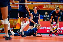 18-10-2018 JPN: World Championship Volleyball Women day 19, Yokohama<br /> Training day Netherlands in Yokohama Arena / Laura Dijkema #14 of Netherlands