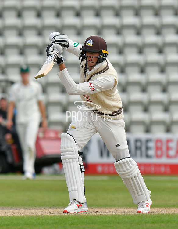 Morne Morkel of Surrey batting during the final day of the Specsavers County Champ Div 1 match between Worcestershire County Cricket Club and Surrey County Cricket Club at New Road, Worcester, United Kingdom on 13 September 2018.