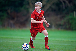 WOLVERHAMPTON, ENGLAND - Tuesday, December 19, 2017: Liverpool's Edvard Sandvik Tagseth during an Under-18 FA Premier League match between Wolverhampton Wanderers and Liverpool FC at the Sir Jack Hayward Training Ground. (Pic by David Rawcliffe/Propaganda)